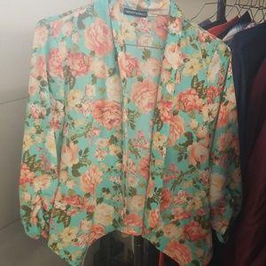 Floral blazer / cardigan